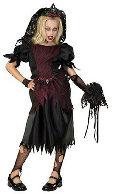 Zombie Prom Queen Gothic Vampire Witch Fancy Dress Up Halloween Child Costume](Zombie Vampire Costumes)