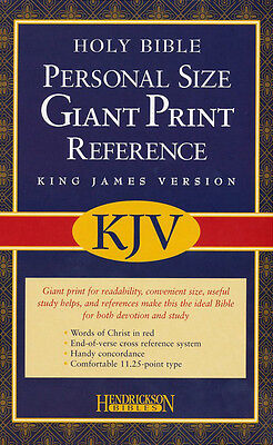 Kjv Personal Reference Bible  Giant Print  Imit  Leather Black