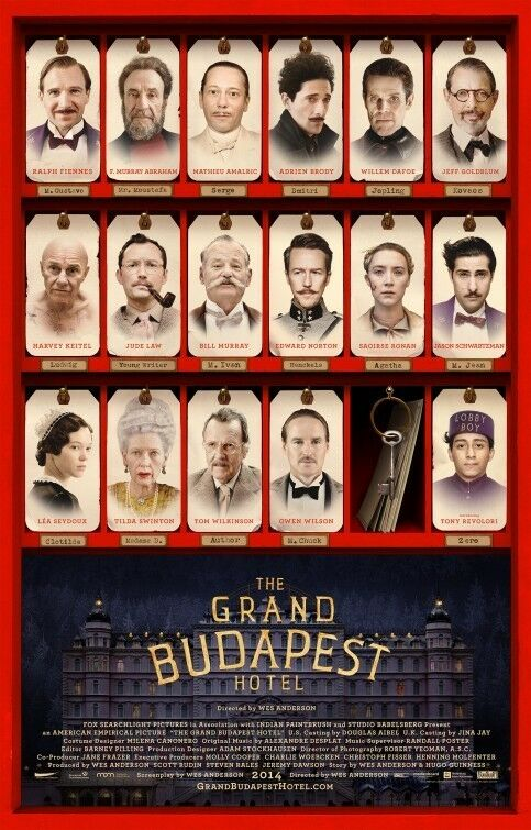 Grand Budapest Hotel Final Original Movie Poster Double Sided 27x40