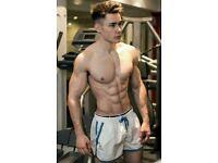 Shirtless Male Muscular Beefcake Cowboy Hunks Barn Workout PHOTO 4X6 F507