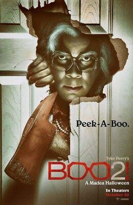 BOO 2 A MADEA HALLOWEEN MOVIE POSTER 2 Sided ORIGINAL Advance 27x40 TYLER PERRY (Boo Halloween Movie)