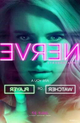 Nerve    Original Movie Poster   27X40 Advance A   Emma Roberts