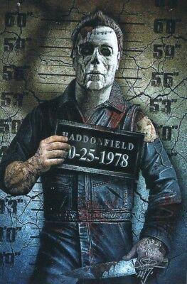 Michael Meyers-halloween (Michael Meyers, Halloween, Vinyl Sticker .)