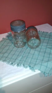 Vintage Crown Mason jars embossed with Made in Canada