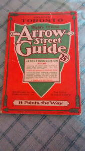 Vintage Might's Official Arrow Street Guide of GTA  for 1936