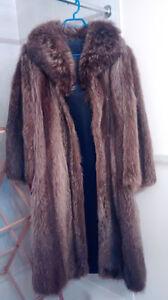 Full-length Raccoon fur coat - price reduced!