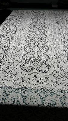 60'' X 144'' LACE BANQUET TABLECLOTH WHITE IN COLOR    HUGE RECTANGLE