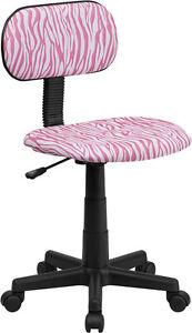Design office desk task computer chair kids adults pink zebra swivel