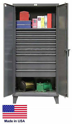 Steel Cabinet Commercialindustrial - Shelves Drawers 18 - 78 H X 24 D X 36 W
