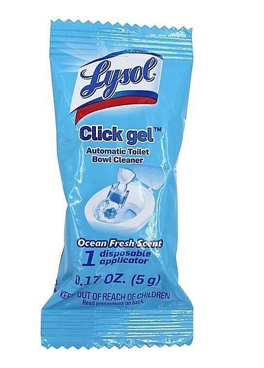 LYSOL Click Gel Toilet Bowl Cleaner - Ocean Fresh 1ct Exp 08