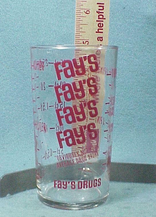 Fays Drugs Measuring Glass