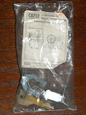 Replacement Mailbox Lock C8712 Bommer 5 Pin Tumbler Cam Lock With 2 Keys
