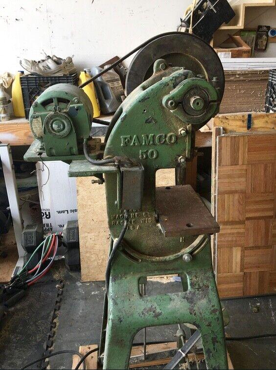 6 Ton FAMCO #50 Mechanical OBI Press
