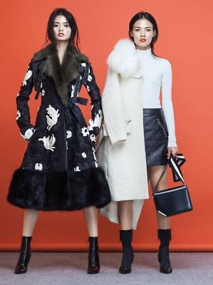 Louis Vuitton Runway/Editorial Cream Fur Coat Fall/Winter 2015 Size 38FR