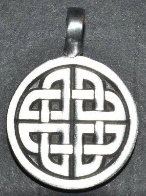 Amulett / Anhänger keltischer Knoten aus Feinzinn
