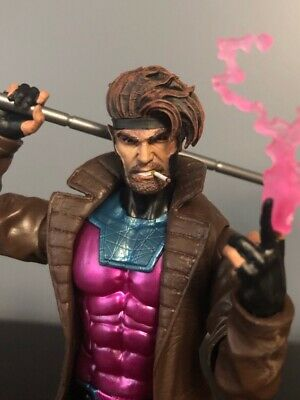 Marvel Legends Custom #88 NEW GAMBIT Head ONLY smoking cigarette Cast Painted!!!