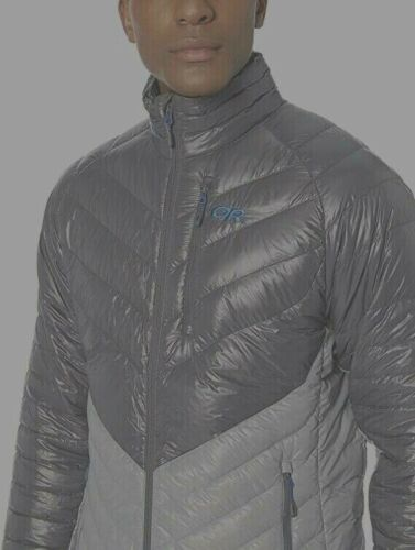 Outdoor Research Illuminate 800-fill Down Jacket Packable Pewter Large $249 NWT