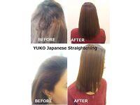 YUKO Japanese Straightening (Re-bond) from £140, Brazilian Keratin Straightening from £75