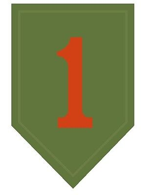 1st Home Decorations (1st Infantry Division Regiment Vinyl Decal Sticker Military Armed Forces)