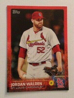 2015 Topps MINI Online Exclusive JORDAN WALDEN RED #2/5 MADE Cardinals #614