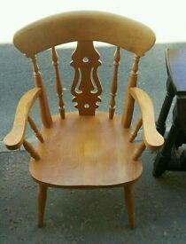 Pine carver chair x1