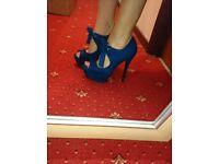 New Look blue heels size 6