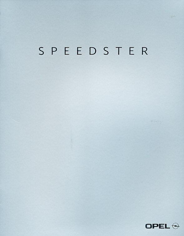 2002 Opel Speedster Original German Sales Brochure Book