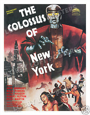 THE COLOSSUS OF NEW YORK LOBBY CARD POSTER OS/GER 1958 JOHN BARAGREY ED WOLFF