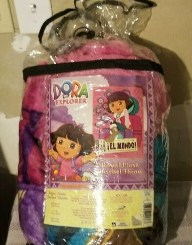 Dora the explorer Royal plush blanket. (60x80)