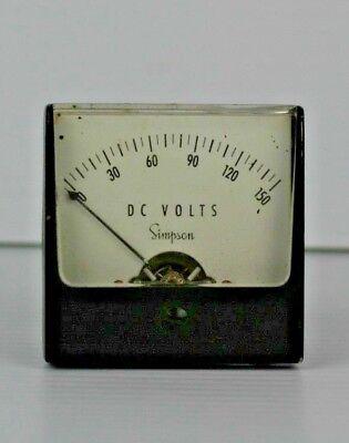 Simpson Electric Panel Meter 0-150 Dc Volts 1000 Ohmsvolt 4-12