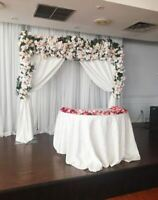 Flower walls, backdrops and marquee letters for rent