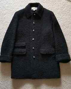 Talbots Rich Black Winter Coat w/ Silver Crest Buttons