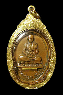 V.1 KRUBA BOONCHUM BE2519 PIM NIYOM+GOLD CASE AUTHENTIC 100% PHRA THAI AMULET