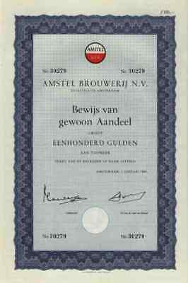 AMSTEL Brauerei 1966 Amsterdam Heineken Puerto Rico 100 Gulden Zoeterwoude