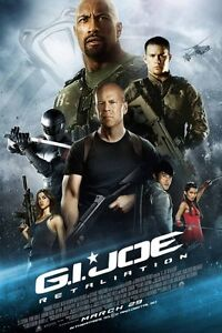 G.I. Joe Retaliation - original DS movie poster D/S 27x40 Revised Final
