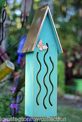 BUTTERFLY HOUSE - AVAILABLE IN 4 COLORS: GREEN, TURQUOISE, PINK OR YELLOW (Yellow Butterfly House)