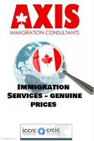 Axis Immigration - Genuine Prices - Open Weekends