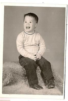 Adorable Happy Big Smile Sweet Down Syndrome Idd Boy Kid Williams 1968 Photo
