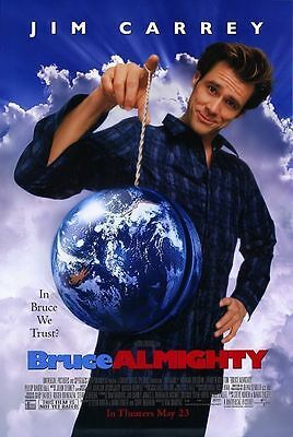Bruce Almighty normal S/S One Sheet Rolled film Poster 27x40 NEW 2003