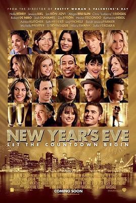 Year's Eve - 27x40 D/s Original Movie Poster One Sheet 2011 Jessica Biel