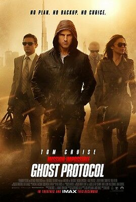 MISSION IMPOSSIBLE GHOST PROTOCOL 11x17 MOVIE (Mission Impossible Poster)