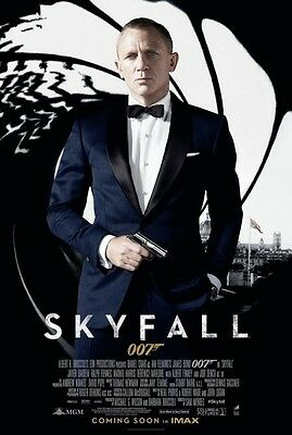 Skyfall Intl Coming Soon Imax Original Double Sided Movie Poster 27X40