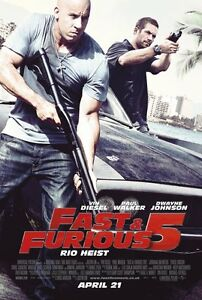 Fast and Furious 5 original DVD movie poster