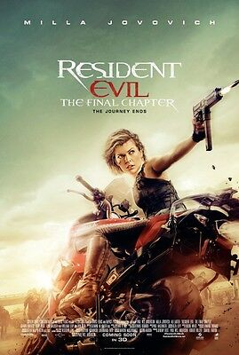 Resident Evil Final Chapter Version H  Original Movie Poster Double Sided 27X40