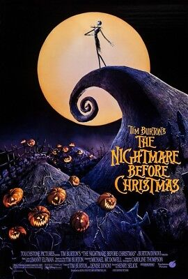 MOVIE 16634 NIGHTMARE BEFORE CHRISTMAS JACK AND SALLY COUPLE POSTER 22x34