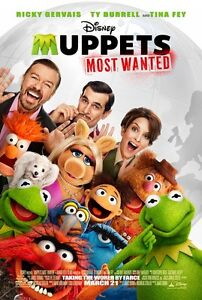 Muppets Most Wanted original Movie poster