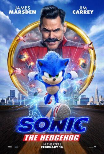 Sonic the Hedgehog 2020 Original D/S Movie Poster 27x40