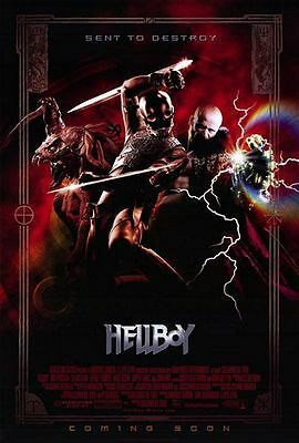 Hellboy Original D/S  Rolled Movie Poster 27x40 NEW 2004 Ron Perlman Selma Blair