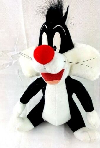 "Looney Tunes Sylvester Cat Plush 1998 Warner Bros. 9"" Stuffed Animal"