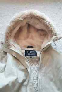 Utex Design Hooded Soft Cream Coat (Size: Small)